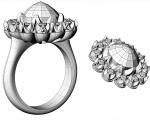 Black Diamond Ring   Earrings