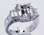 Em Cut   Traps Engagement Ring