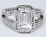 Emerald Cut   Baguettes Diamond Ring