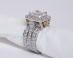 Engagement Ring with Eternity Bands