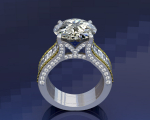 Engagement Ring with Tapered Baguettes
