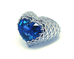 Heart Shape Sapphire Lace Ring