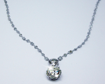 Round Diamond Necklace with Dia. Baillard Chain