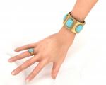 Turquoise Cuff Bracelet Rings Earrings