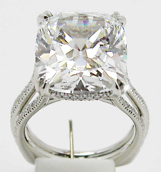 11 50 Carats Cushion Cut Diamond Ring Exclusive Jewelry
