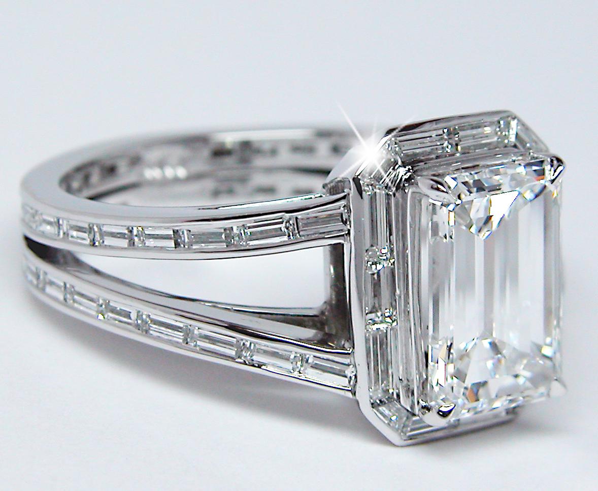 ring designs emerald cut ring designs