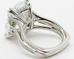 11.50 carats Cushion Cut Diamond Ring