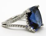 15.50 carats Cushion Sapphire Ring