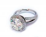 5.00 Carats Round Diamond Halo Split Shank Ring