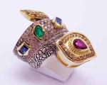 Multicolor Gem Snake Ring