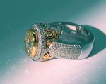 Yellow Oval Diamond with Scrolls