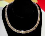 Yellow Princess Cut Diamond Necklace